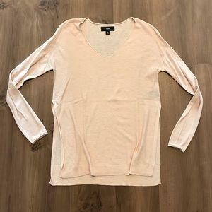 V-neck Sweater with Side Slits